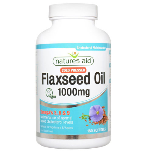 Natures Aid Flaxseed Oil1000mg - 180 Softgels