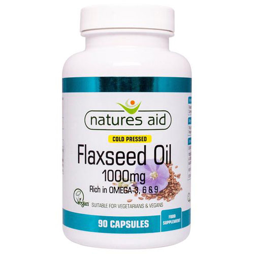 Natures Aid Flaxseed Oil 1000mg - 90 Softgels