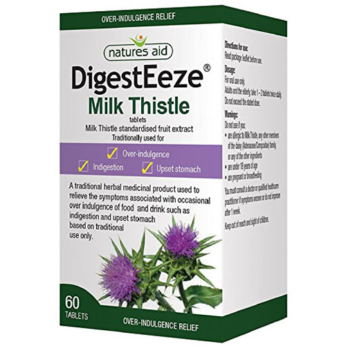 Natures Aid Digest Eeze Milk Thistle - 60 Caps